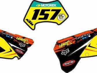 PORTANUMEROS KTM EXC 2007