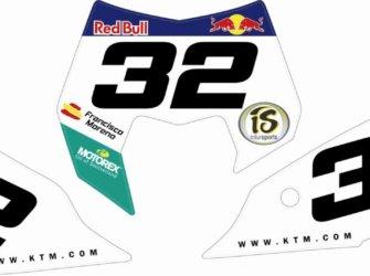 PORTANUMROS KTM 2012
