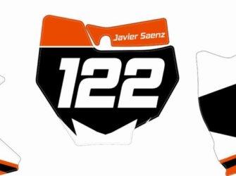 PORTANUMEROS KTM 2017
