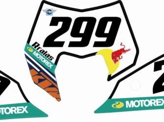 PORTANUMEROS KTM 2012