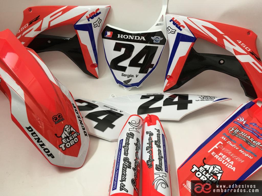 Gráficas Honda CR CRF Personalizadas 3ED Adhesivos Embarrados