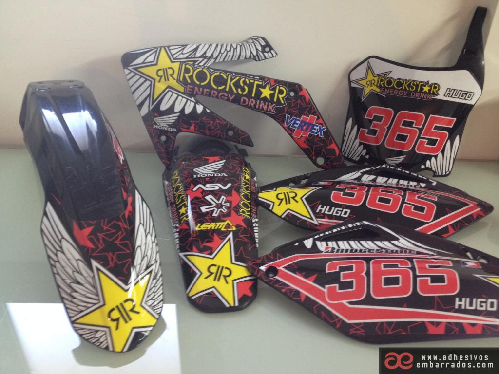 Honda 2018 CR CRF Motocross Plásticos Y Adhesivos DF