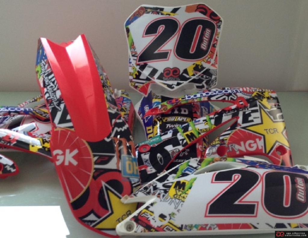 Honda 2018 Motocross Plásticos Y Adhesivos EAFD