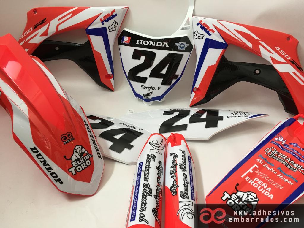Honda CR CRF 2012 2013 Plásticos Y Adhesivos D1F