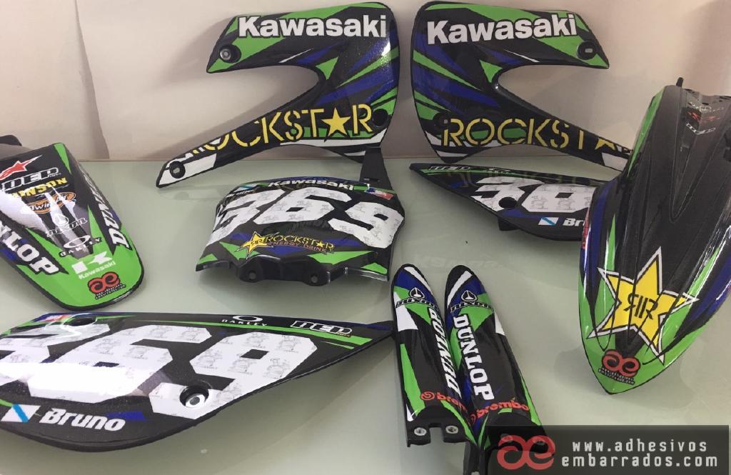 Kawasaki KX KXF Motocross Adhesivos EmCVAZ