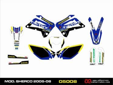 Kit De Pegatinas Para Sherco 2005-08