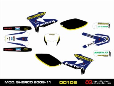 Kit De Adhesivos Para Sherco 2009-11