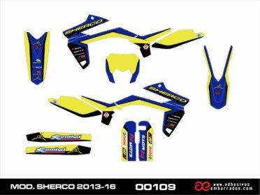 Kit De Pegatinas Para Sherco 2013-16