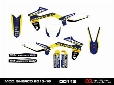 Kit De Adhesivos Para Sherco 2013-16