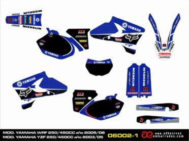 Graphics Yamaha YZF/WRF 250/450CC