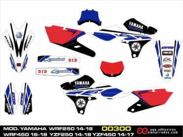 GRAFICAS YAMAHA 4T ENDURO/MOTOCROSS – RED