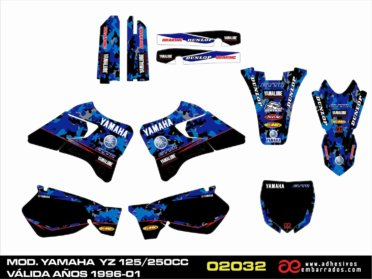 Adhesivos Para Yamaha YZ Año 1996/01 – Frontal Actual
