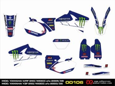 KIT De Adhesivos Para Yamaha YZF/WRF 250/450CC