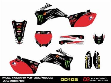 Graficas Para Yamaha YZF 250/450c.c. 2006-09