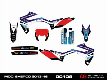 Graficas Para Sherco 2013-16 Rojo
