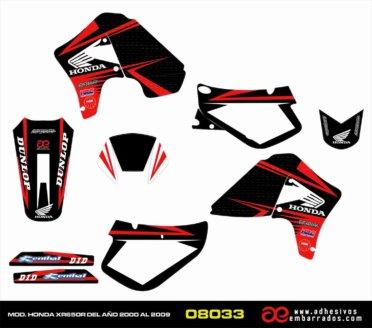 Kit De Adhesivos HONDA XR650R – NEGRO