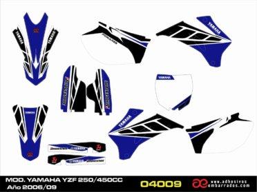 Kit De Adhesivos Para Yamaha YZF 250/450c.c. 2006-09