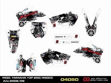 Adhesivos Para Yamaha YZF 250/450c.c. 2006-09
