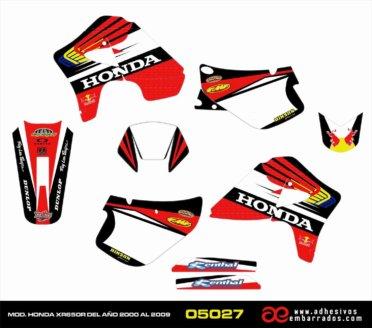 Kit De Adhesivos HONDA XR650R – ROJO