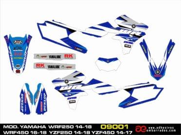 KIT DE ADHESIVOS YAMAHA WR 250/450f Diseños 2018