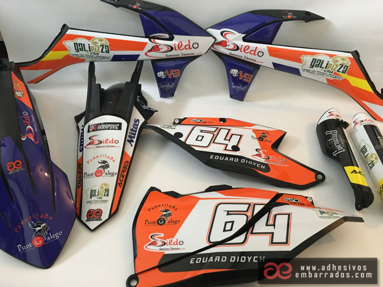 Kit De Plásticos Y Adhesivos Personalizados Ktm 64