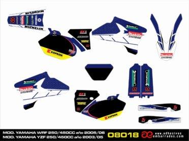 KIT De Adhesivos Para Yamaha YZF/WRF 250/450CC- Makita