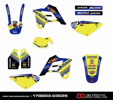 Kit De Pegatinas Gas Gas 2001 – 06 – BLUE/YELLOW