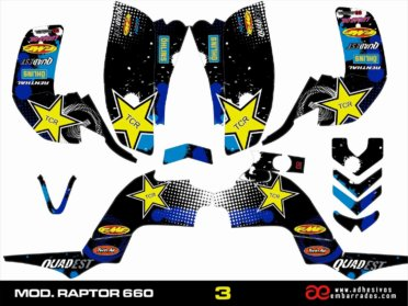 Kit De Adhesivos Quad RAPTOR 660