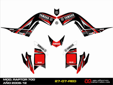 Kit De Adhesivos Quad RAPTOR 700R 2007
