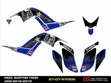 Kit De Adhesivos Yamaha RAPTOR 700R 2012