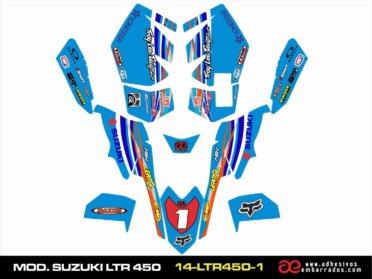 Adhesivos Suzuki LTR 450 – Azul