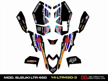 Adhesivos Suzuki LTR 450 – Negro