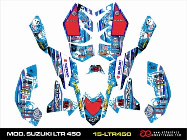 Pegatinas Suzuki LTR 450 – Ampliado Azul