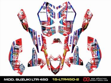 Adhesivos Suzuki LTR 450 – Ampliado ROJO