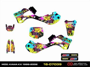 ADHESIVOS Kawasaki KX 1999/02