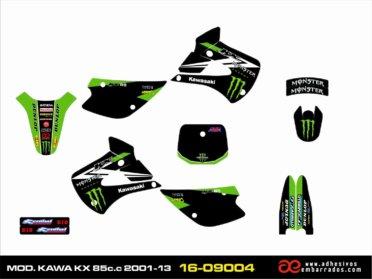 Kit De Pegatinas Kawasaki KX 85C.C. – Black