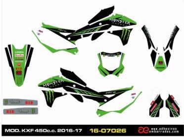 Pegatinas Kawasaki KXF 450 Año 2016/17