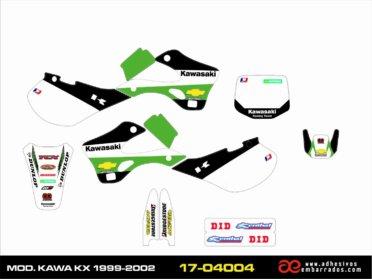 Kit De ADHESIVOS Kawasaki KX 1999/02