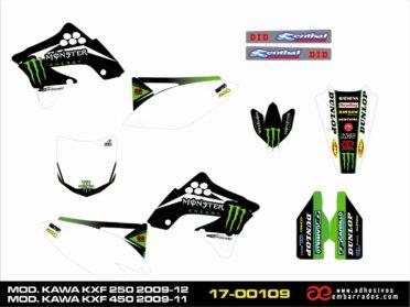 Kit De Adhesivos Kawasaki KXF