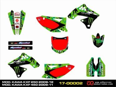 Adhesivos Kawasaki KXF 250/450 – Fondos Rojos