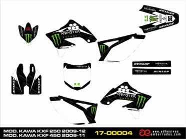Adhesivos Kawasaki KXF 250 – 450cc – MONSTER
