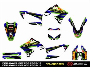 Adhesivos Kawasaki KXF ROCKSTAR