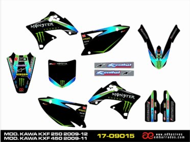 Adhesivos Kawasaki KXF 250/450 – 2009-12