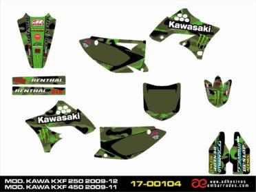 Graphics Kawasaki KXF 250/450cc