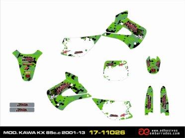 Kit De ADHESIVOS Kawasaki KX 85CC – Camuflaje