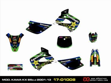 Kit De ADHESIVOS Kawasaki KX 85CC 2001-13