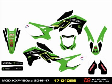 GRÁFICAS Kawasaki KXF 450 Año 2016/17