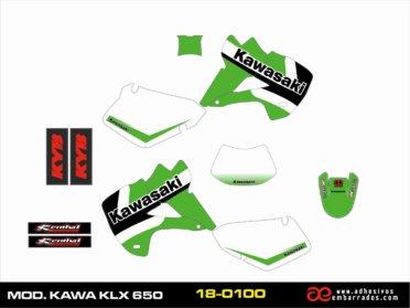 KIT DE ADHESIVOS Kawasaki KLX 650