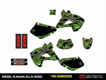 KIT DE ADHESIVOS Kawasaki KLX 650 – CAMUFLAJE