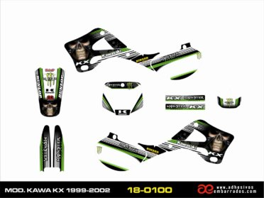 Kit De ADHESIVOS Kawasaki KX 1999/02 – Black